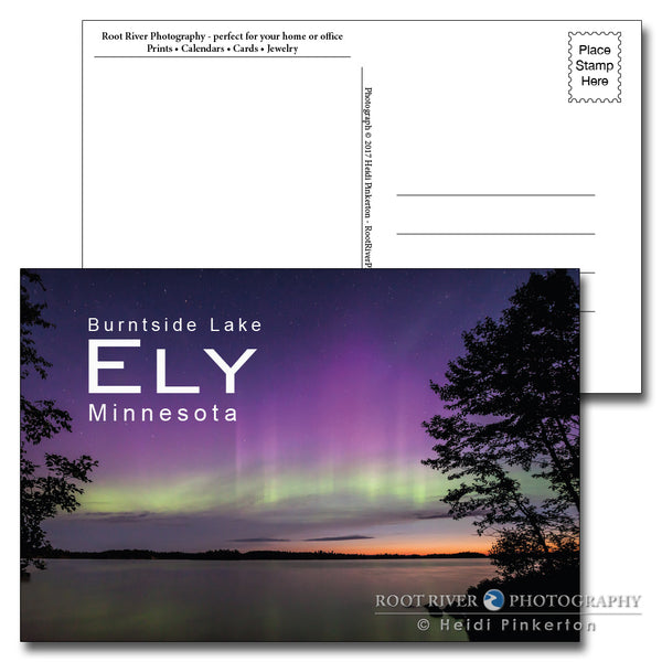 Ely, Minnesota Burntside Lake Morning Light Postcard