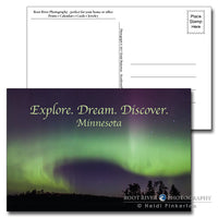 Minnesota Sky Writer Northern Lights Postcard