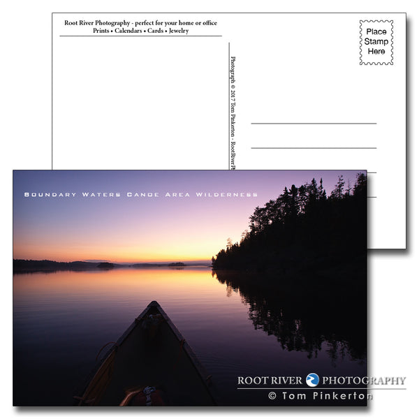 Boundary Waters Canoe at Dawn Postcard