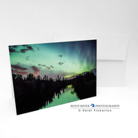 Night Sky - Lights Over the St. Louis Greeting Card