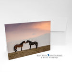 Horses - Muzzle Nuzzle Greeting Card