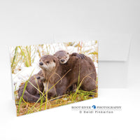 Otters - Otter Hugs Greeting Card