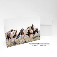 Horses - Painted Patrol Greeting Card
