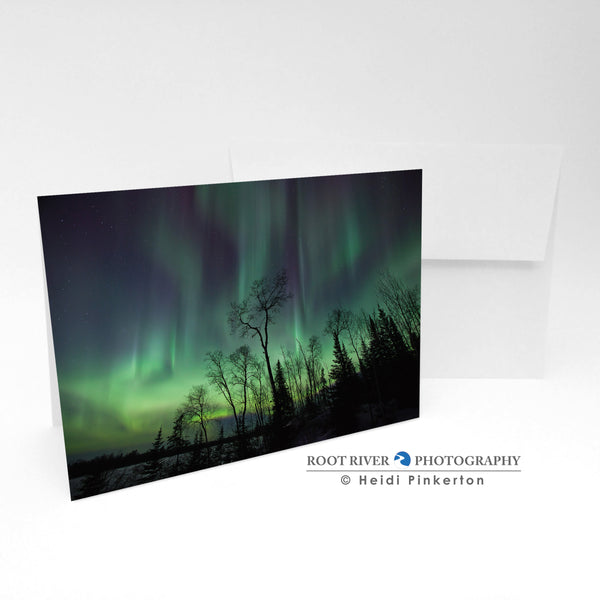Night Sky - Viridescent Sky Greeting Card