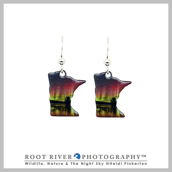 Birch Lake MN State Earrings