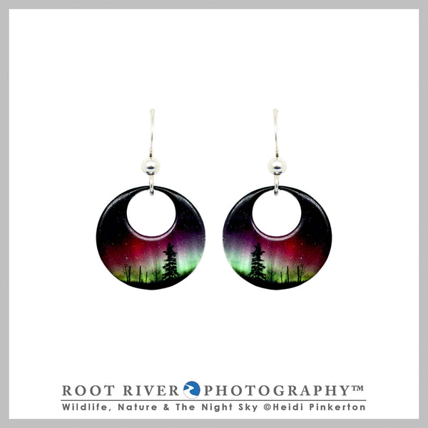 Forest of Lights Open Circle Earrings