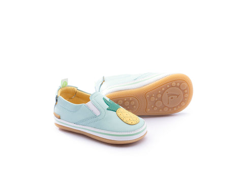 Tip Toey Joey Woody Fruity Shoes - White/ Aquamarine