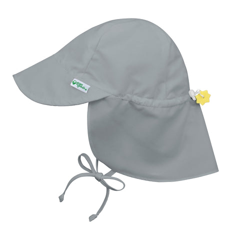 Flap Sun Protection Hat - Gray
