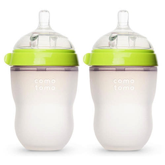 Como Tomo Baby Bottle, Double - 8oz Green