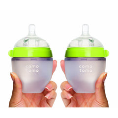 ComoTomo Baby Bottle, Double - 5oz Green