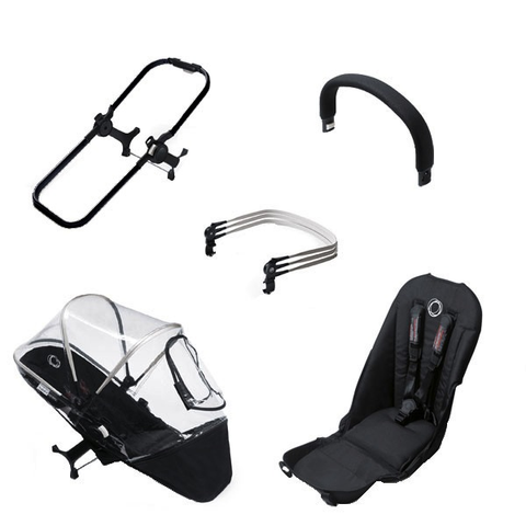 Bugaboo Donkey Duo Extension Set - BLACK/BLACK (Special Order Item)