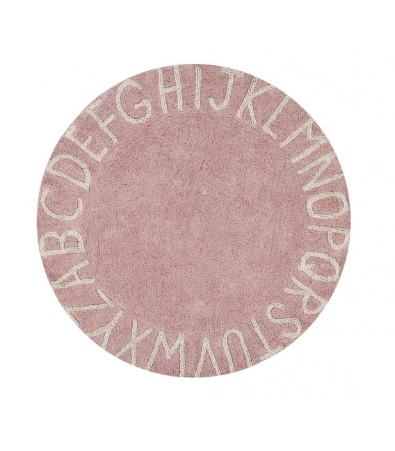 Lorena Canals ABC Round Washable Rug (special order item)