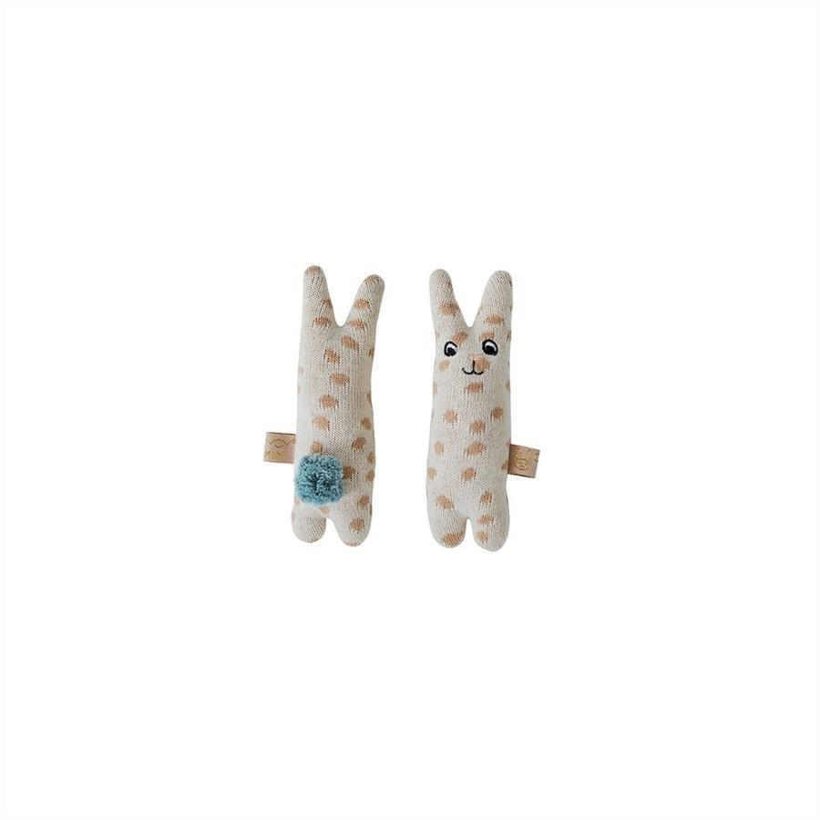 Baby Rabbit Rattle - Nude