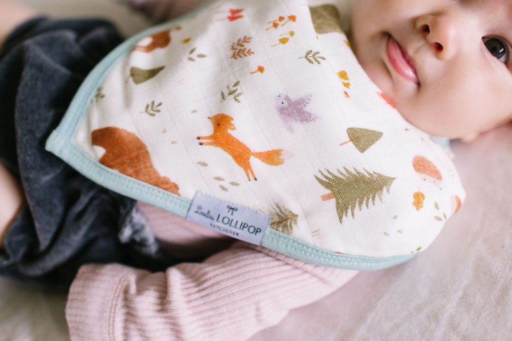 Loulou Lollipop Bandana Bib Set - Forest Friends