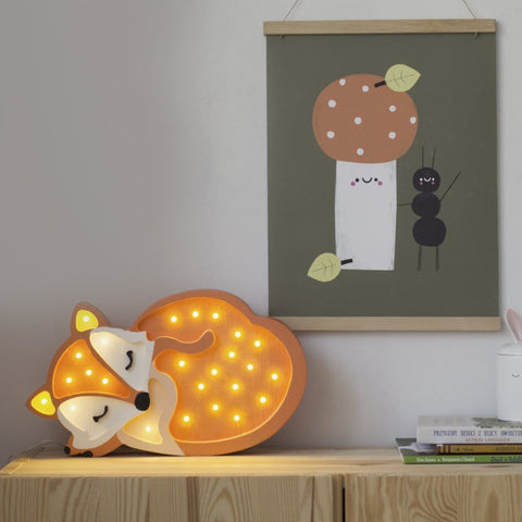 Little Lights Baby Fox Lamp - Orange