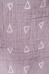 Mebie Baby Muslin Swaddle Blanket - Blush Triangle