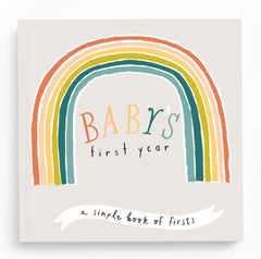 Babys First Year Memory Book - Rainbow