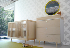Spot on Square Ulm Crib - Birch  (Special Order Item)