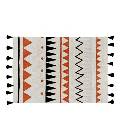 Lorena Canals Azteca Natural Washable Rug - Terracotta (Special Order Item)
