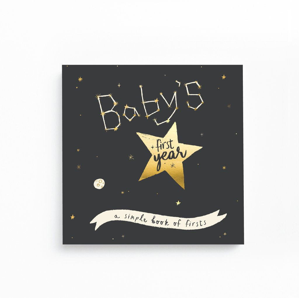Babys First Year Memory Book - Golden Star