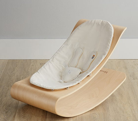 Bloom Coco Stylewood Lounger - Natural with White Seat Pad (SPECIAL ORDER ITEM)