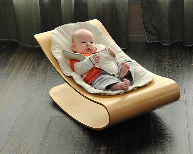 662d12f17224 Bloom Bouncer Coco Stylewood - Natural Frame + White Seat Pad ...