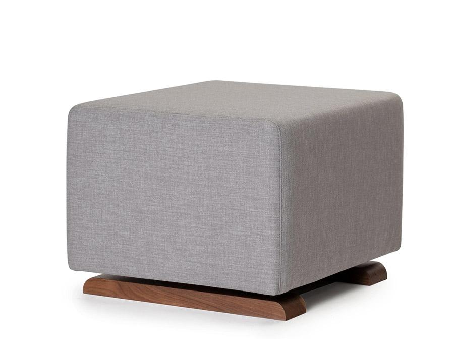 Como Ottoman - Pebble Grey / Walnut Base (Special Order Item)