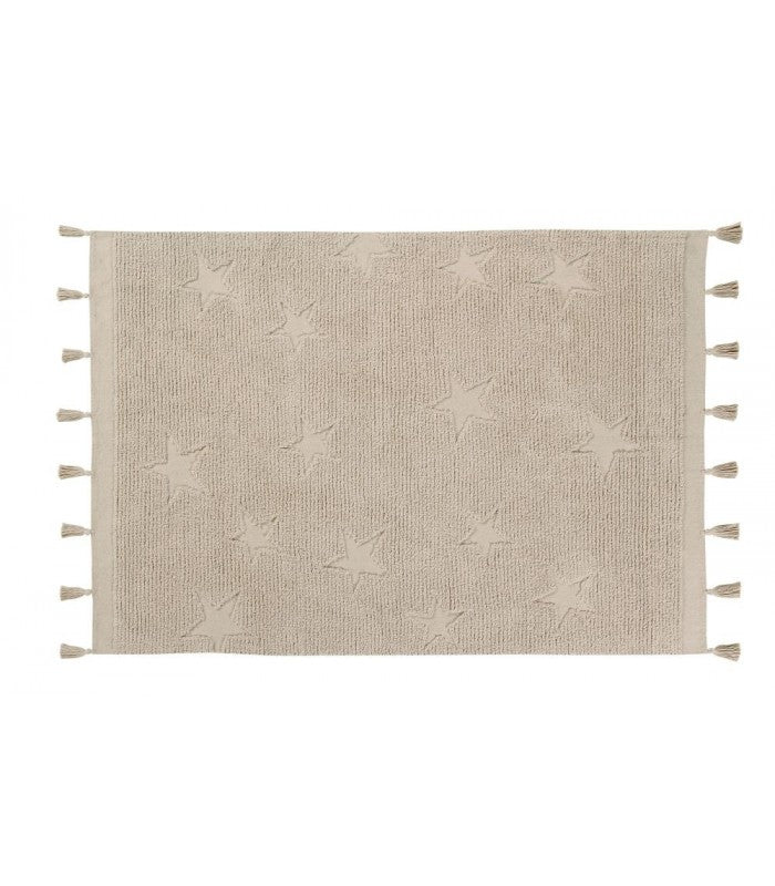 Lorena Canals Washable Rug - Hippy Stars Natural
