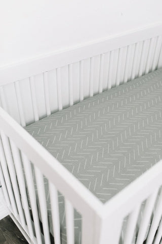 Mebie Baby Fitted Crib Sheets - Desert Sage