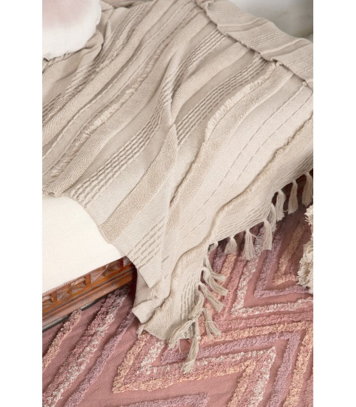 Lorena Canals Knitted Blanket Air Dune White