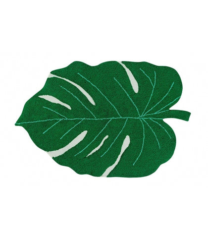 Lorena Canals Monstera Leaf Washable Rug - Green (Special Order Item)