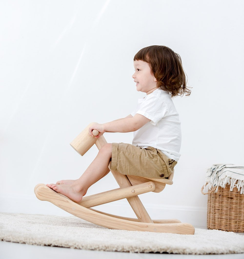 Foldable Rocking Horse - All Natural Wood