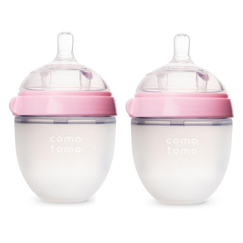 ComoTomo Baby Bottle, Double - 5oz Pink