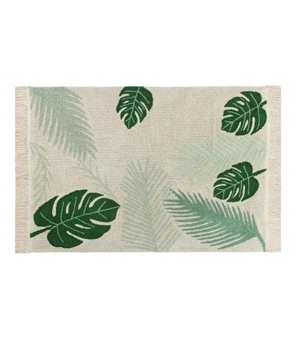 Lorena Canals Tropical Green Washable Rug (Special Order Item)
