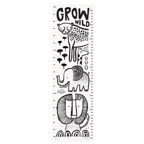 Wee Gallery Canvas Growth Chart - Assorted