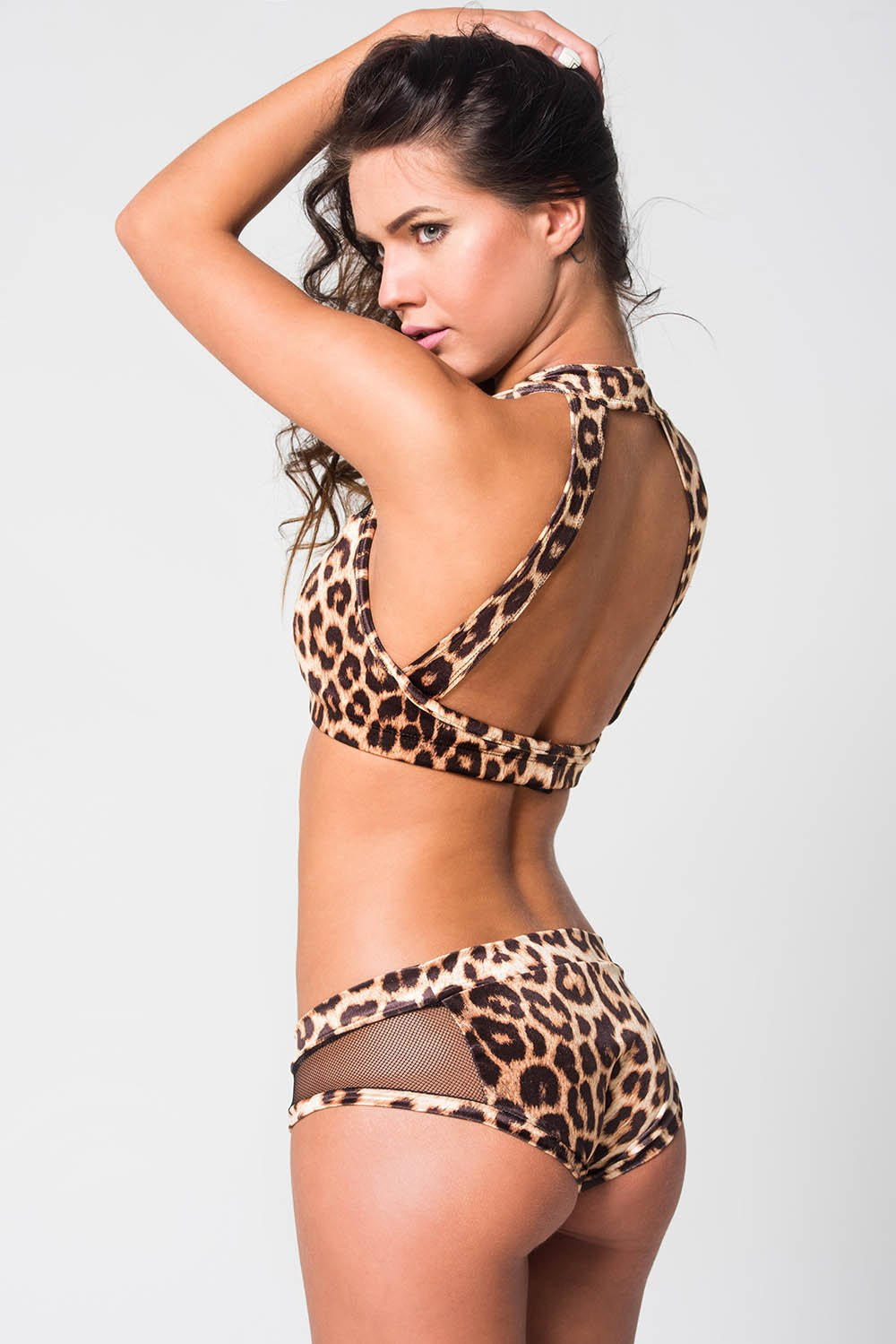 Cindy top velvet - Leopard