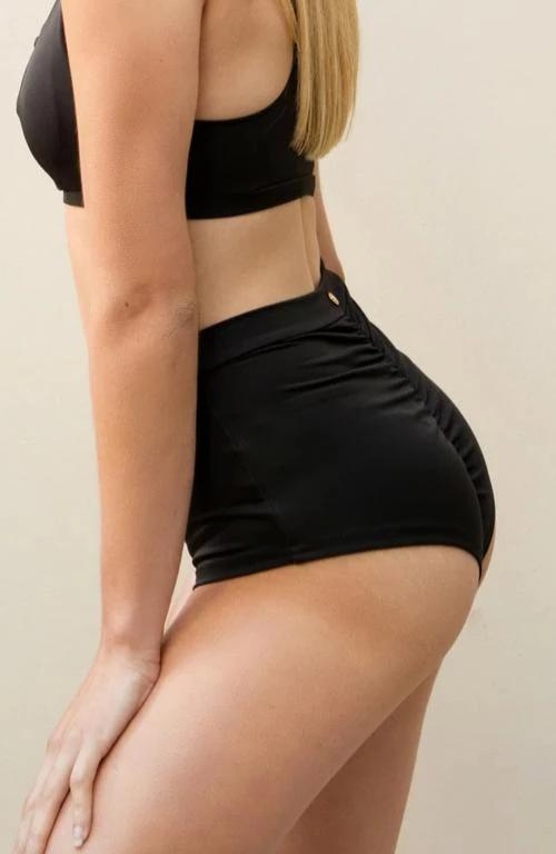 High waist basic shorts – Black