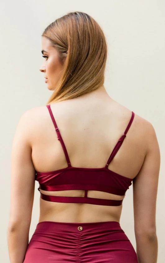 Bella top – Burgundy