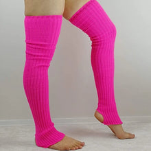 Thigh High Legwarmers - Neon pink