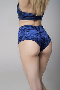 Eve bottom Velvet - Navy blue