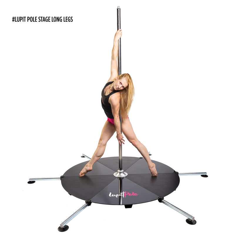 LUPIT STAGE POLE, stainless steel, 45mm - Long Legs