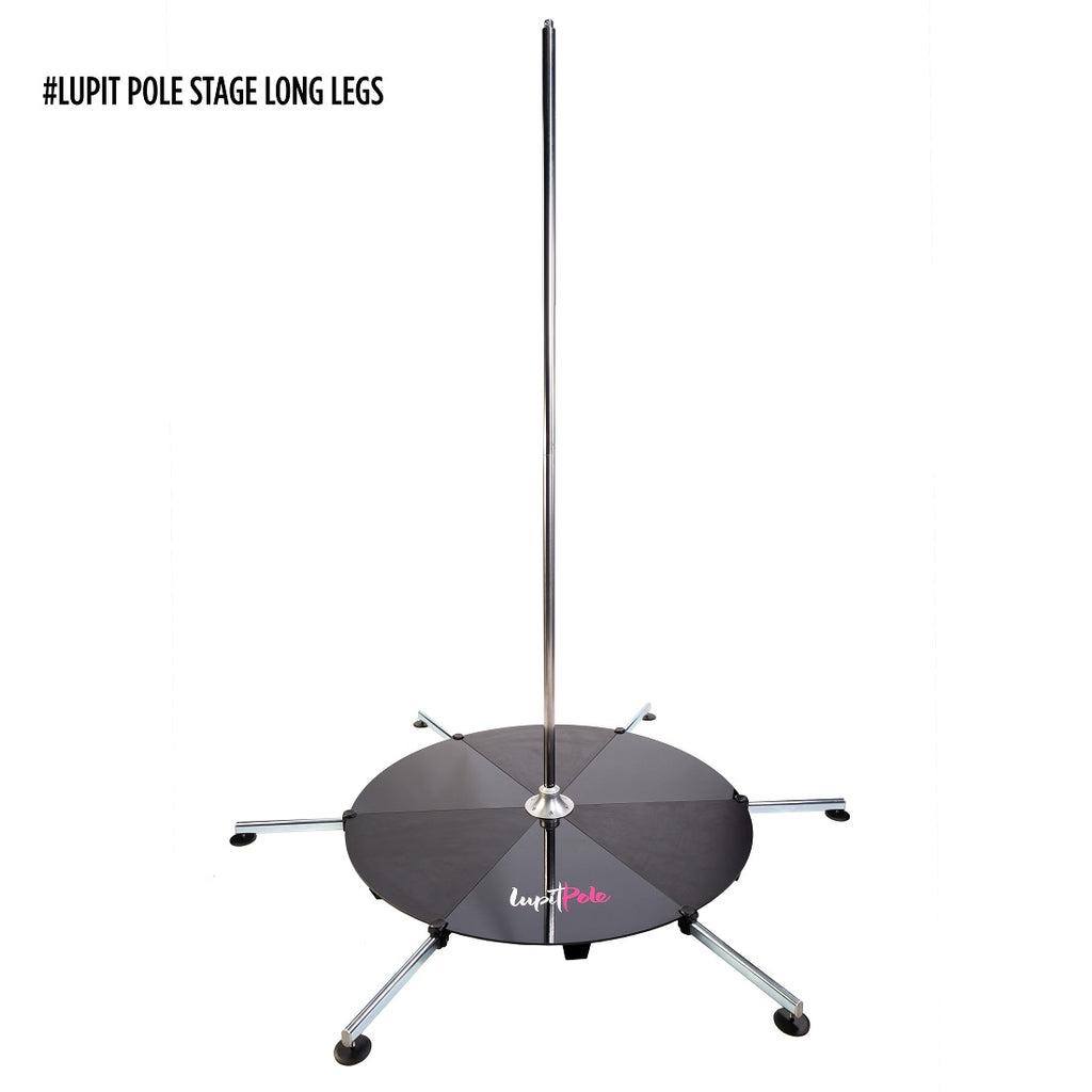 LUPIT STAGE POLE, stainless steel, 45mm - Short Legs