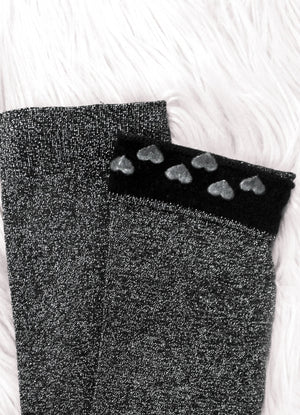 Lurex thigh high socks - Silver