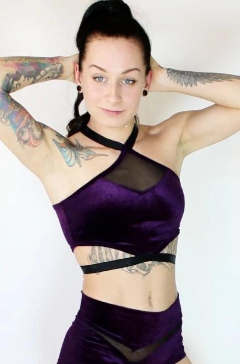 Exotic velvet top - Deep purple