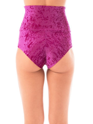 Betty shorts velvet - ruby