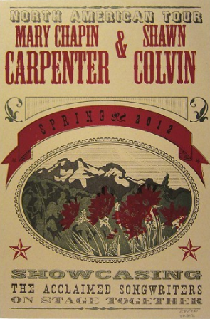 Mary Chapin Carpenter & Shawn Colvin 2012 Tour Poster