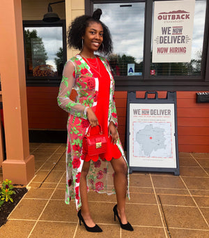 This rose embroidery duster is perfect for the spring and summer. You can wear it with a jumpsuit or even with a swim suit