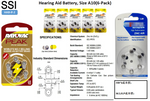 HAB-If-2 Hearing Aid Battery, Size A10(6-Pack)
