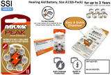 HAB-If-4 Hearing Aid Battery, Size A13(6-Pack)