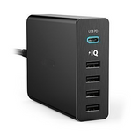 PP-HBii-4 USB Charger RAVPower 60W 12A 6-Port Desktop USB Charging Station